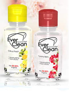 EverClean Hand Sanitizer Citrus Fresh and Yummy Berry Combo 60 ml (Pack of 2)