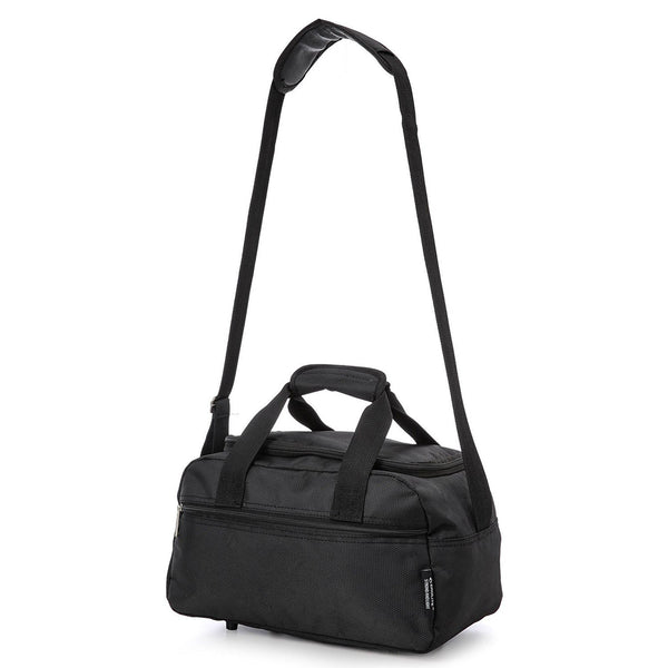 Aerolite (55x40x20cm) Lightweight Hard Shell Cabin Hand Luggage and (35x20x20cm) Black Holdall