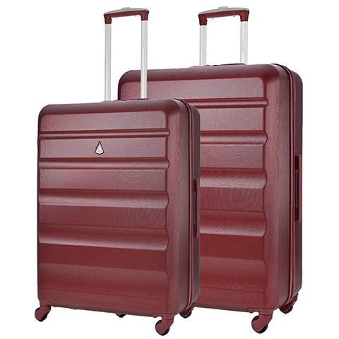 Aerolite Lightweight Hard Shell Suitcase Luggage Set (Medium + Large)