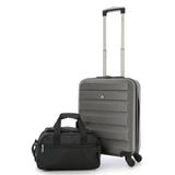 Aerolite (55x40x20cm) Lightweight Hard Shell Hand Cabin Luggage and (35x20x20cm) Holdall Flight Bag (x4 Set)