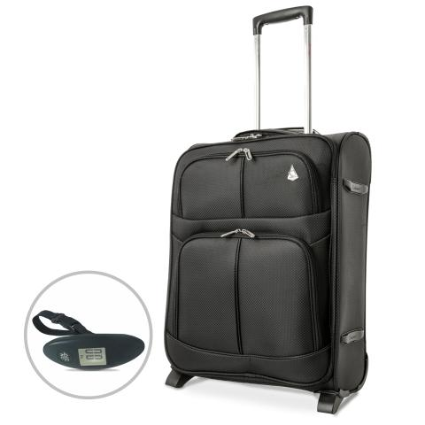 Aerolite (55x40x20cm) Lightweight Cabin Hand Luggage with Luggage Scales | 2 Wheels