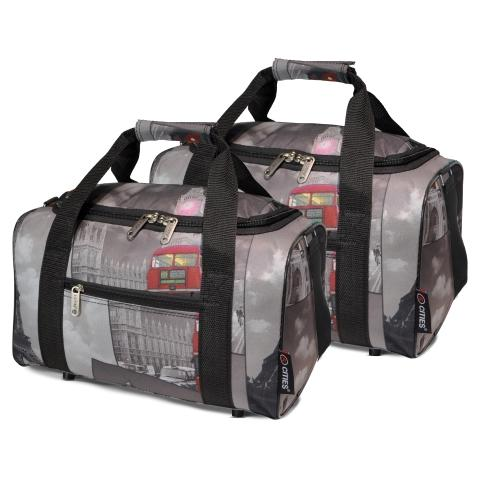 5 Cities (35x20x20cm) Hand Luggage Holdall Flight Bag (x2 Set)