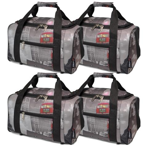 5 Cities (35x20x20cm) Hand Luggage Holdall Flight Bag (x4 Set)