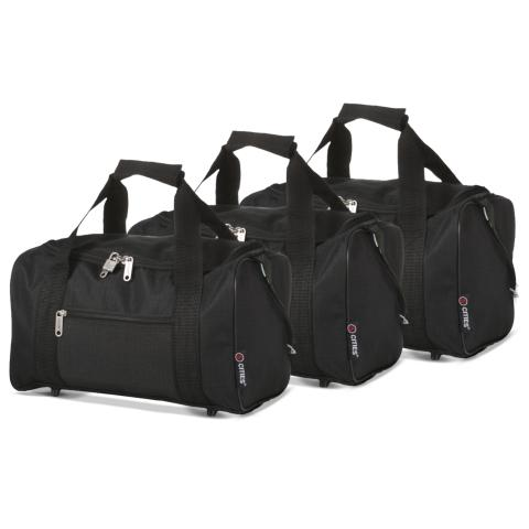 5 Cities (35x20x20cm) Hand Luggage Holdall Flight Bag (x3 Set)