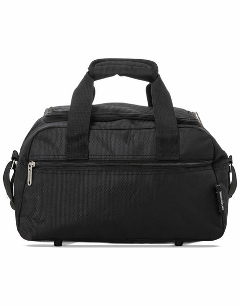 5 Cities (55x35x20cm) Lightweight Cabin Hand Luggage and (35x20x20cm) Holdall Flight Bag - Black