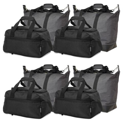 5 Cities (55x40x20cm) and Aerolite (35x20x20cm) Hand Luggage Shoulder Holdall Bags Bundle (x8 Set)