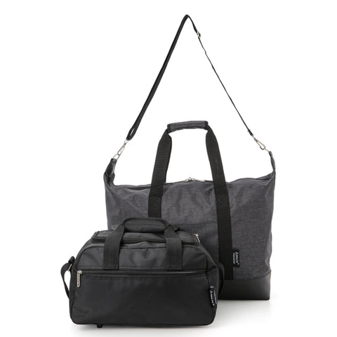 5 Cities (55x40x20cm) and Aerolite (35x20x20cm) Hand Luggage Shoulder Holdall Bags Bundle (x4 Set)