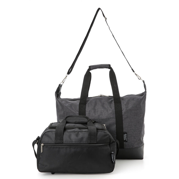5 Cities (55x40x20cm) and Aerolite (35x20x20cm) Hand Luggage Shoulder Holdall Bag Set (x2 Set)