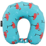 5 Cities Travel Pillow Neck Memory Foam Cushion - Flamingo Aqua