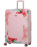 Aerolite Premium Hard Shell Hand Luggage Set (Medium + Large) - Floral Pink