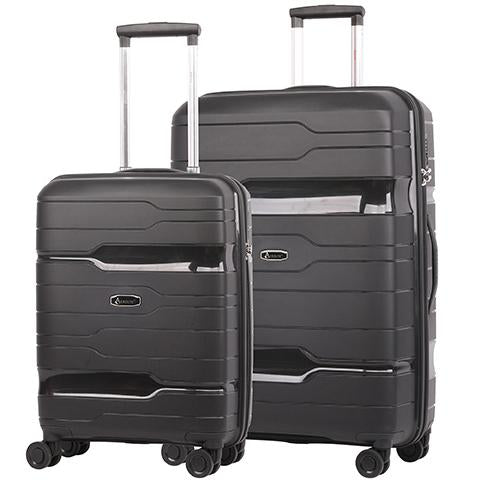 Aerolite Premium Hard Shell Cabin Hand Luggage Set with Built In TSA Combination Lock (Cabin + Large)