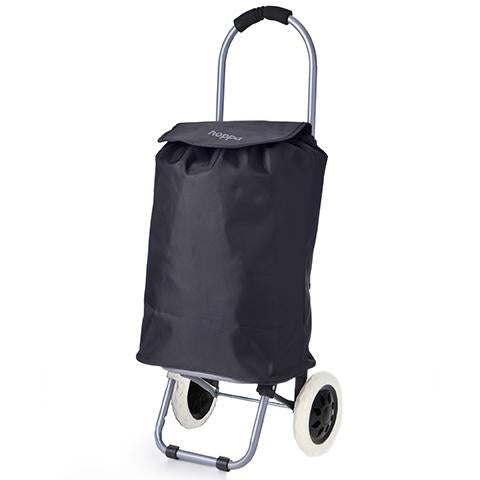 Hoppa Mini (47x32x23cm) Lightweight Wheeled Shopping Trolley - Black