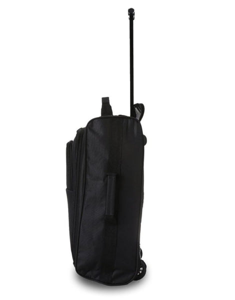 5 Cities (55x35x20cm) Lightweight Cabin Hand Luggage and (35x20x20cm) Holdall Flight Bag (Black + Navy)