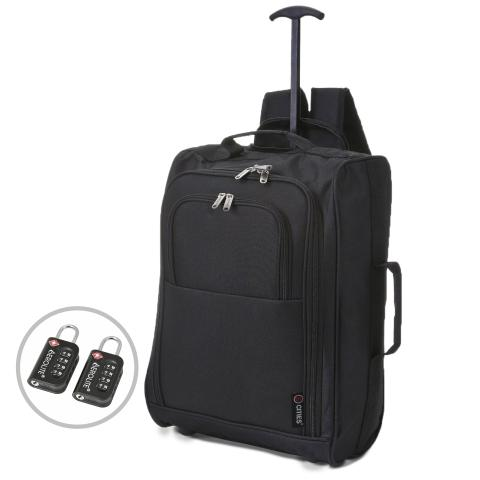 5 Cities (55x35x20cm) Lightweight Cabin Hand Luggage and TSA Padlock