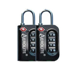 Aerolite (55x40x20cm) Lightweight Hard Shell Cabin Hand Luggage with TSA Padlock | 4 Wheels