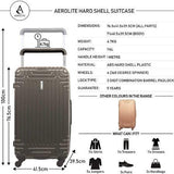 Aerolite Hard Shell Suitcase Luggage Set (Cabin + Large)