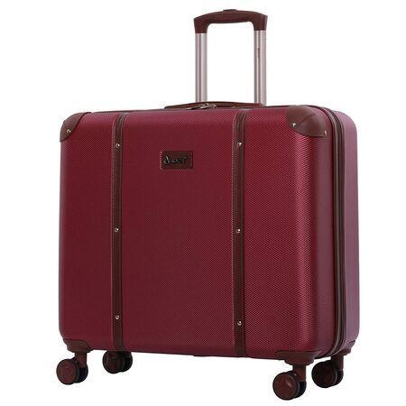 Aerolite (65.5x64x31cm) Vintage Trunk Style Hard Shell Suitcase - Winter Rose