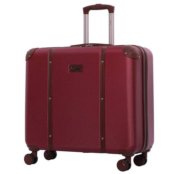 Aerolite (48x57x26cm) Vintage Trunk Style Hard Shell Suitcase - Winter Rose