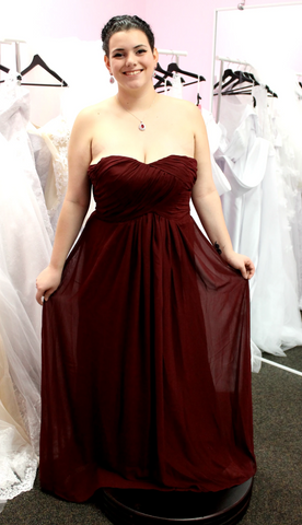 Navy & Burgundy Wedding - BL2301 Plus Size Bridesmaid Dress