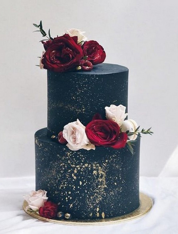 Navy & Burgundy Wedding Ideas - Cake