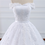 Fox - Off the Shoulder Lace Ball Gown