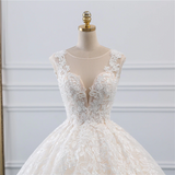 Flora - Floral Lace Pattern Ball Gown