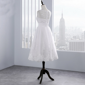 Benita - Tea Length Lace Top Wedding Dress