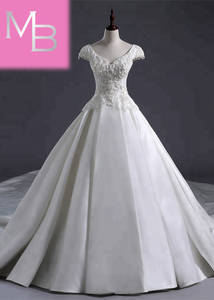 Cassidy - Large Bow Decorated Ball Gown