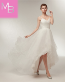 Cora - Simple Ruched High-Low Gown