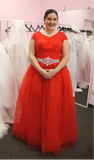 India - O-neck Cap Sleeved Ball Gown