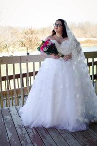 Lindsay Plus Size Floral Ball Gown - Christina Dunnigan Photography - Labrador Lakehouse Inn - Marion Bridal