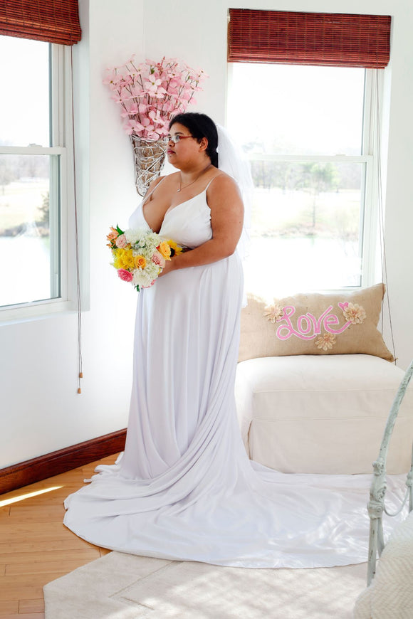 Pana - Plus Size Simple Sexy Wedding Dress - Christina Dunnigan Photography - Labrador Lakehouse - Marion Bridal