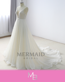 Mandy - Sparkling Net Style Lace Beach Wedding Dress