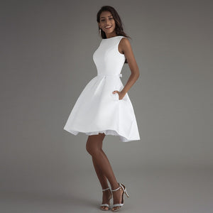 Sonya - Short Simple A-Line Wedding Dress