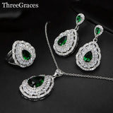 42001 - Crystal Drop Style Jewelry Set with Multiple Color Options