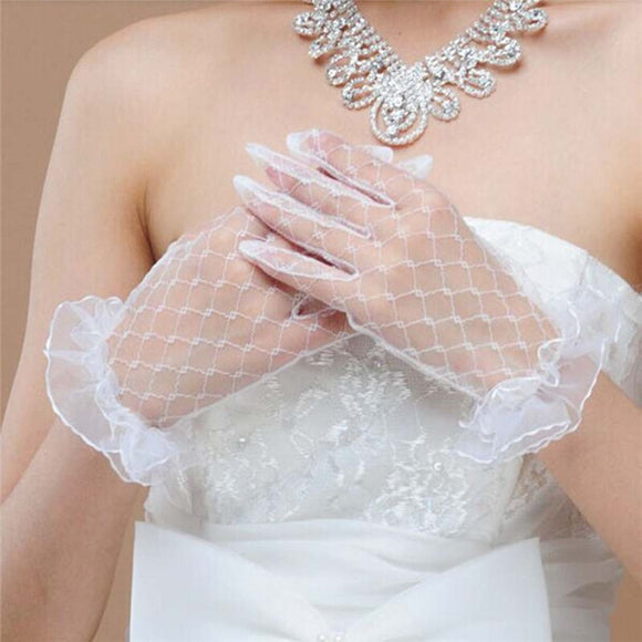 32801 - Transparent Fishnet Gloves