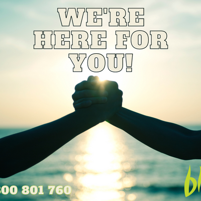 We're here for you...