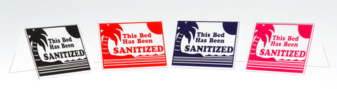 Acrylic Sanitized Signs