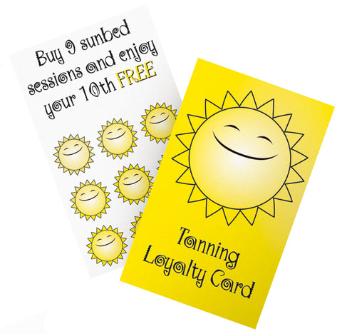 Tanning Loyalty Cards