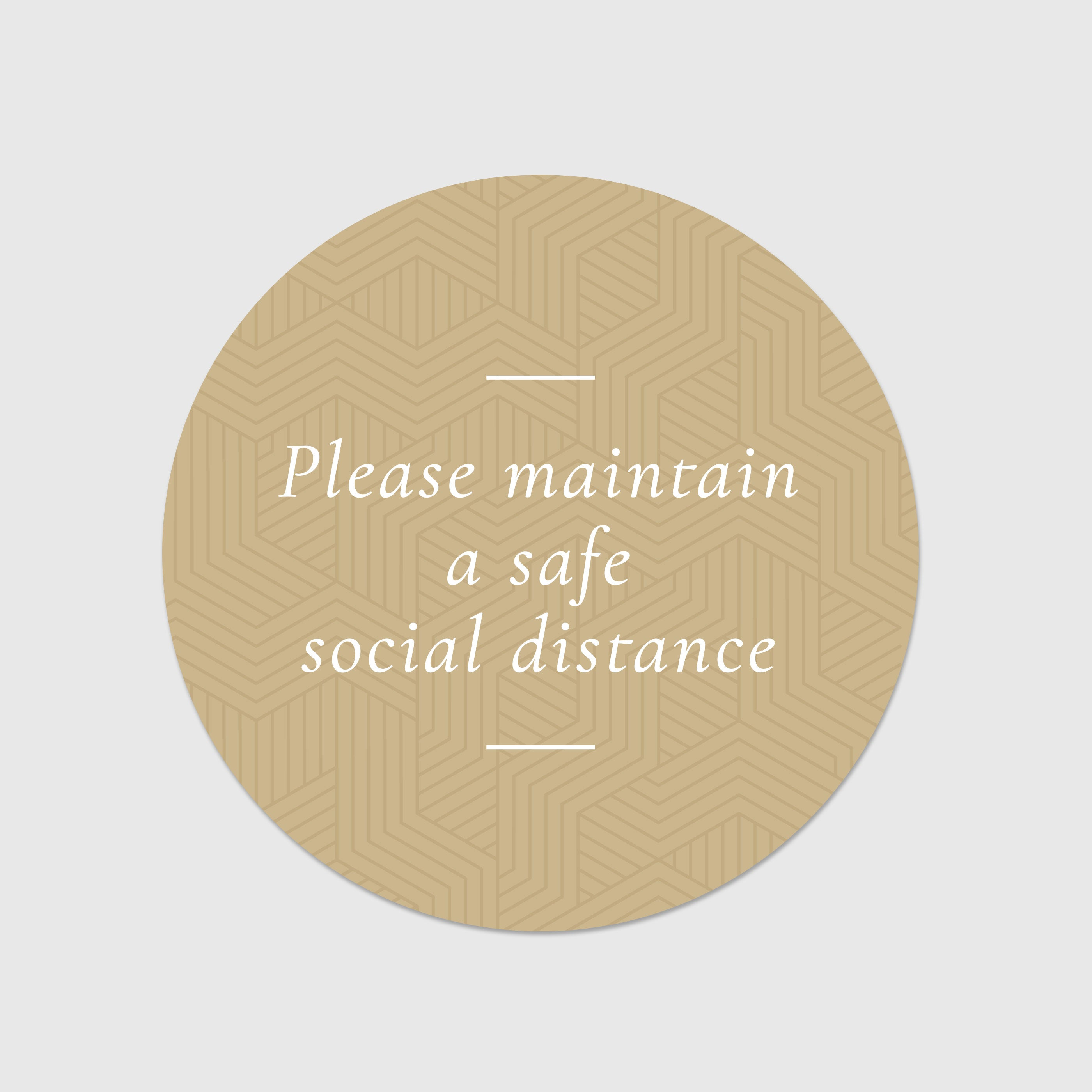 Social Distance Floor Signs
