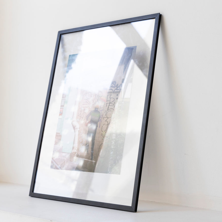 People heading to the wall in Paris / A3 bk frame