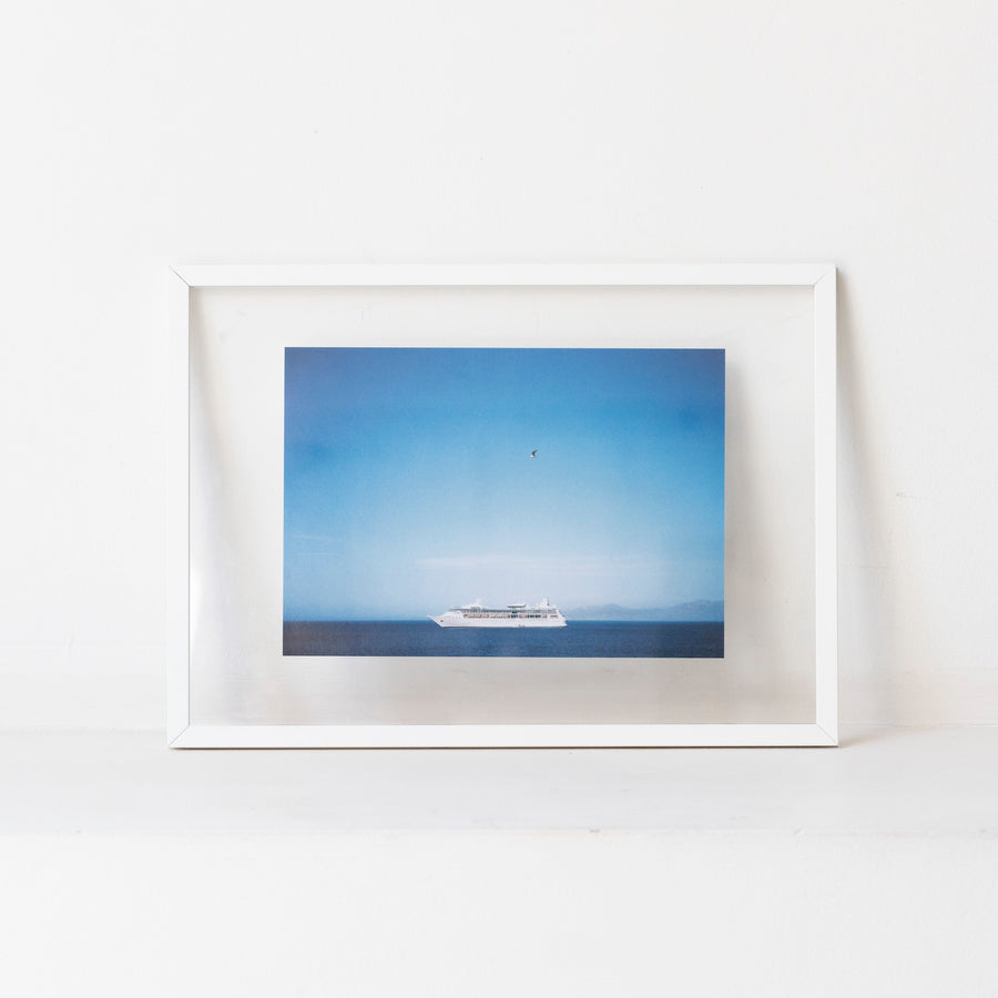 Ships and birds / A4 wh frame