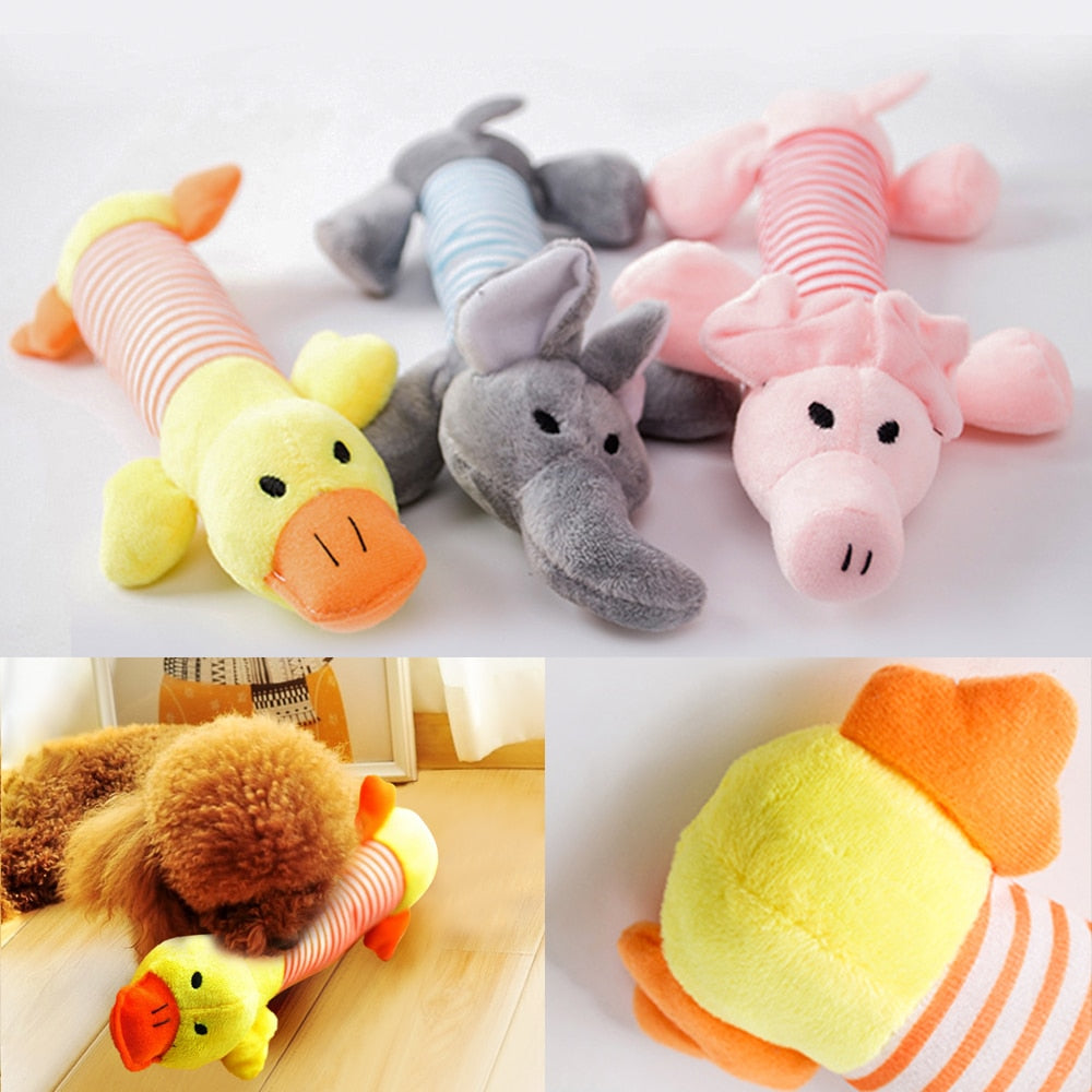 Pet Dog Cat Plush Squeak Sound Dog Toys