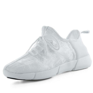 Luminous Fiber Optic Unisex Shoes White / 9.5