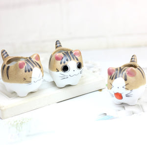 Mini Cat Ceramic Flower Pot