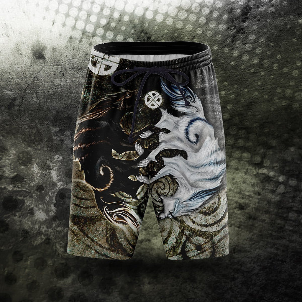 Legend Of Light And Darkness Beach Shorts S Short
