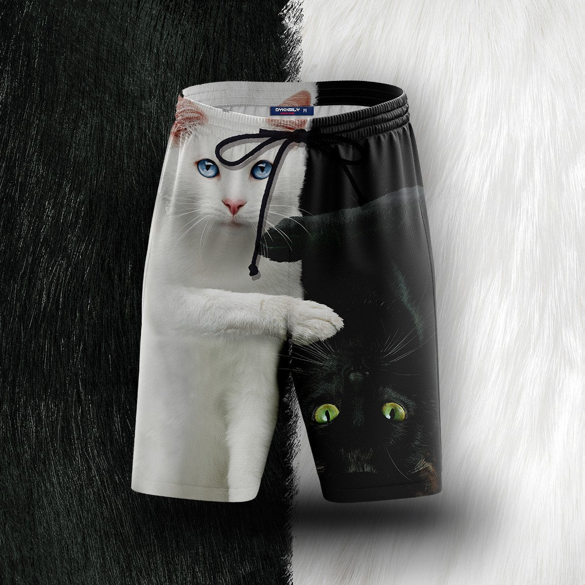 Yin Yang Cats Beach Shorts S Short