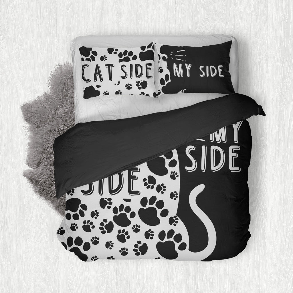Cat Side, My Side Bedding Set