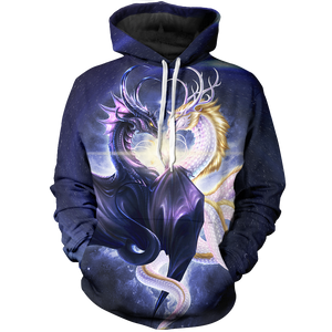 East & West United (Blue Spiral) Unisex Pullover Hoodie