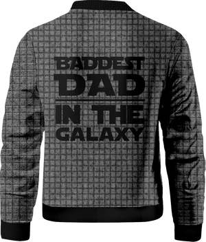 Baddest Dad In The Galaxy Bomber Jacket
